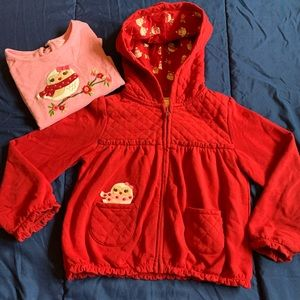 Girls Red Jacket and blouse